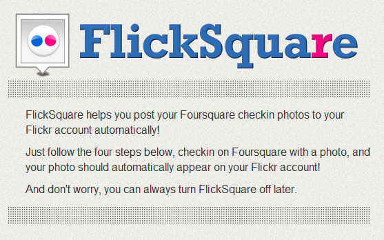 Share Flickr Photos On FourSquare