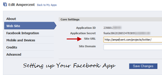 Setting up your Facebook application with PHP and Oauth