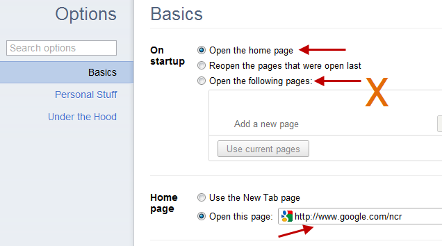 Prevent Browsers From Opening Multiple Unknown Pages At Startup
