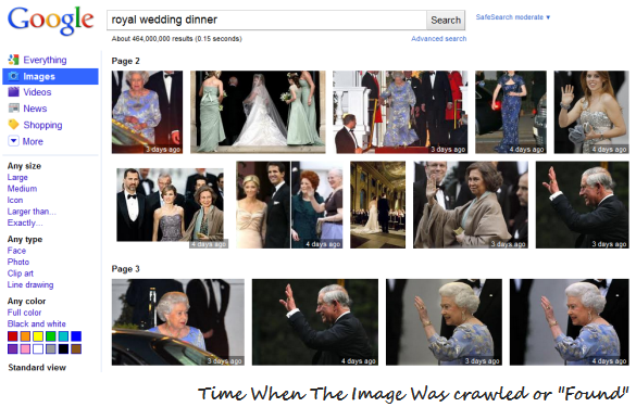 Filter Google Images based on time