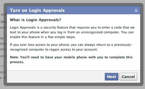 Setting up Facebook Login Approvals with Phone