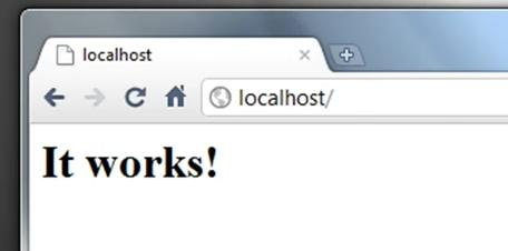 Localhost screen on Apache
