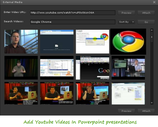Add YouTube Videos in Powerpoint presentations