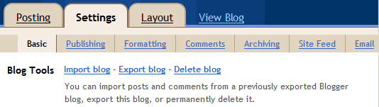 Import posts from Blogger