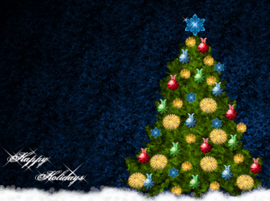 Simple Christmas Tree Wallpaper For Kids