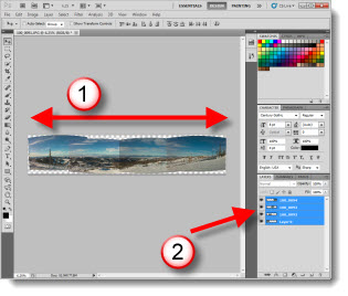 Make a Panoramic Image Using Photoshop