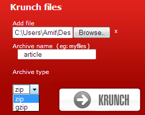 Compress and Decompress Zip archives online tool