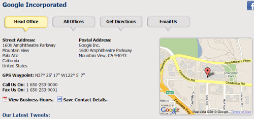 Add Street And Physical Directions of Your website using Google Maps
