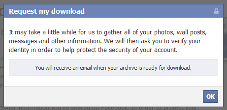 Download facebook Profile data