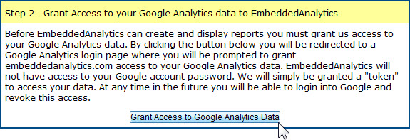 embed real time analytics charts stats grant access