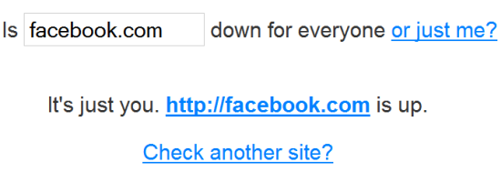 Facebook Down Or Not? Check Facebook.com availability