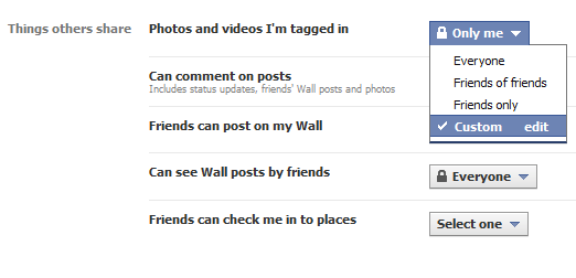 Prevent others from tagging you in photos and videos in Facebook