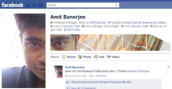 Facebook profile thumbnail tagging trick