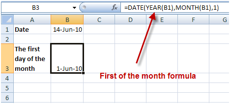 Working with Dates in Excel 2010
