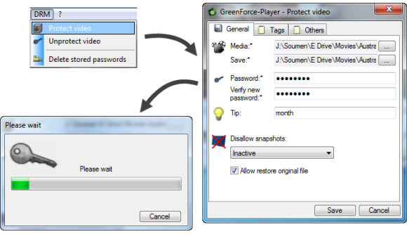 How to Password protect video files with Greenforce player