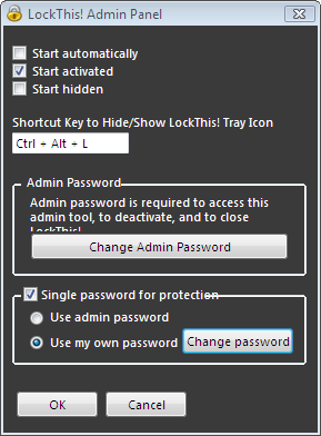 Lock program Windows with a custom password