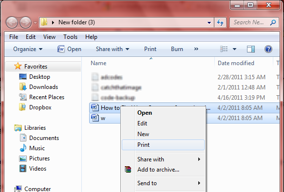 Print multiple Word documents in Bulk