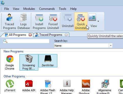 remove windows programs in bulk using Revo uninstaller