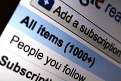 Rss Information Overload - Reduce RSS Feed clutter