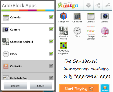 Android home screen contains only filtered applications