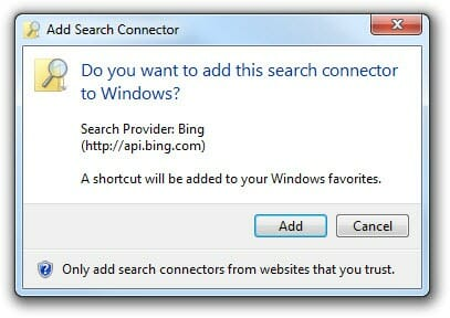 Add Search Connectors for Windows 7