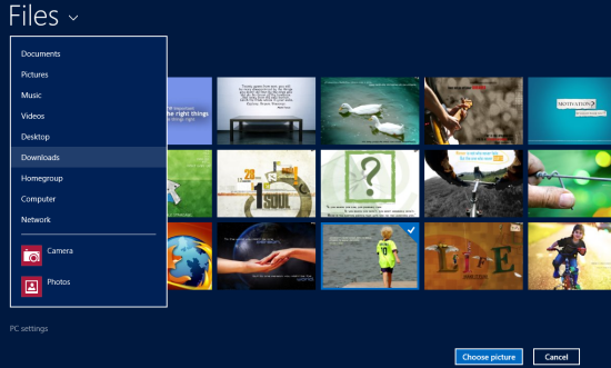 Select your own lock screen background in Windows 8