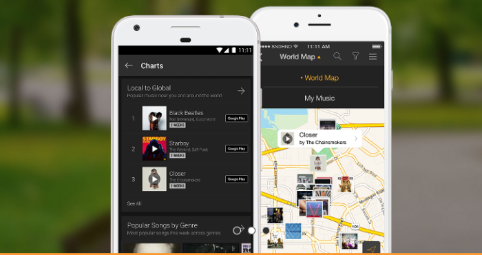 soundhound to discover location based music