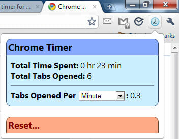Timer for Google Chrome
