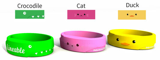 track-your-child-Lineable-different-wristband-color