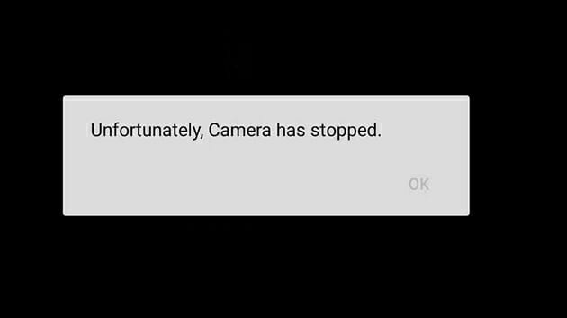 unfortunately camera has stopped working
