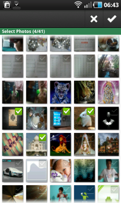 Bulk upload photos to Facebook from Android