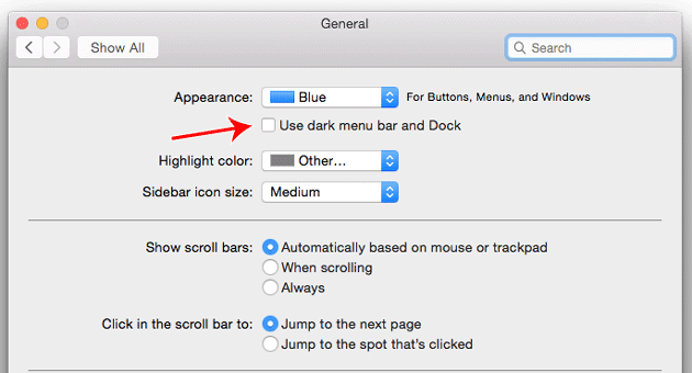 use dark mode in os ox yosemite