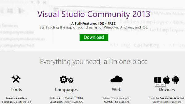 visual-studio-community-2013-free-download